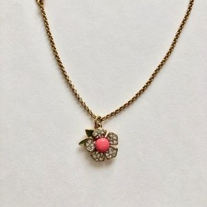 Juicy Couture Pink Floral Goldtone Necklace
